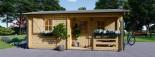 Chalet en bois NANTES (44+44 mm, RT2012), 24 m² + 3.5 m² terrasse visualization 3