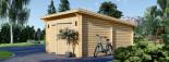 Garage en bois à toit plat MODERN (44 mm), 4x6 m, 24 m² visualization 5