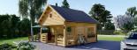 Chalet en bois à étage ALBI (44 mm) 20m²+ 8m² terasse  visualization 4