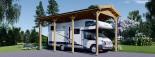 Carport en bois camping car,  3.5x7 m, 24.5 m² visualization 1