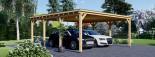 Carport en bois double MODERN, 6x6 m, 36 m² visualization 1