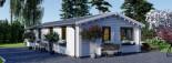 Chalet en bois habitable AGNES (44+44 mm, RT2012), 75 m² visualization 5