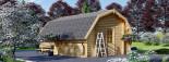 Garage en bois BARN (44 mm), 5x6 m, 30 m² visualization 6
