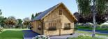 Chalet en bois 2 etages EMMA (66 mm), 80 m²  visualization 2