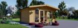 Studio de jardin MARTA (44+44 mm, RT2012), 5x4 m, 19.9 m² visualization 3