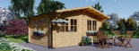 Abri de jardin LILLE (34 mm), 5x4 m, 19.9 m² visualization 1