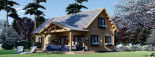Chalet en bois VERA (66 mm) 132 m² + 13.5 m² terrasse visualization 1