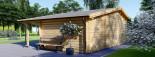 Abri de jardin avec appenti CLARA (44 mm), 7x4 m, 28 m² visualization 3