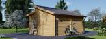 Garage en bois TWIN (44 mm), 4x6 m, 24 m² visualization 4