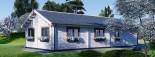 Chalet en bois habitable PAULA (44+44 mm, RT2012), 129 m² visualization 4