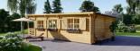 Chalet en bois à toit plat HYMER (66 mm), 42 m² + 10 m² terrasse visualization 4