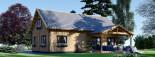 Chalet en bois habitable VERA (44+44 mm, RT2012) 132 m² + 13.5 m² terrasse visualization 3