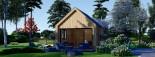 Chalet en bois habitable SALLY (44 mm + bardage, RT2012), 20 m² visualization 3