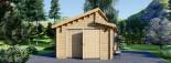 Garage en bois TWIN (44 mm), 4x6 m, 24 m² visualization 7