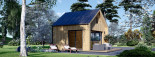 Chalet en bois SARA (44 mm + bardage), 20 m² visualization 9