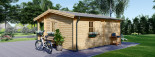 Chalet en bois NANTES (44+44 mm, RT2012), 24 m² + 3.5 m² terrasse visualization 6