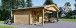 Abri de jardin CAMILA (66 mm), 6x4 m, 24 m² + 11 m² auvent visualization 5