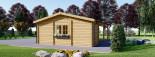 Carport en bois double avec abri, 6x7.5 m, 45 m² visualization 6