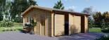 Garage en bois double ALTERNATIVE (44 mm), 6x6 m, 36 m² visualization 2