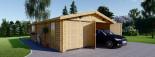 Garage en bois (44 mm), 6x9 m, 54 m² visualization 2