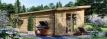 Studio de jardin MAJA (66 mm), 7.5x4 m, 30 m² visualization 6