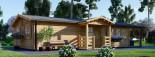 Chalet en bois DONNA PLUS (44 mm), 63 m² + 11.5 m² terrasse visualization 4