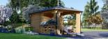 Tonnelle en bois (28 mm), 3x5 m, 15 m² visualization 3
