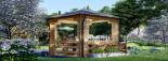Tonnelle en bois (28 mm), 4x4 m, 16 m² visualization 4