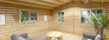 Abri de jardin DREUX (44+44 mm, RT2012), 6x6 m, 36 m² visualization 7