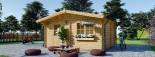 Abri de jardin NINA (44+44 mm, RT2012), 6x6 m, 36 m² visualization 3