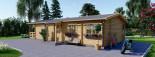 Chalet en bois habitable TOSCANA (44+44 mm, RT2012), 53 m² + 29 m² terrasse visualization 6