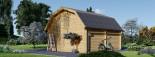Garage en bois MISSISSIPPI (44 mm), 5x6 m, 30 m² visualization 4