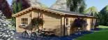 Chalet en bois habitable JULIA (44+44 mm, RT2012), 103 m² visualization 7