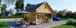 Chalet en bois à étage ALBI (66 mm) 20m²+ 8m² terasse  visualization 1