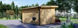 Abri de jardin à toit plat DREUX (44 mm), 4x3 m, 12 m² visualization 4
