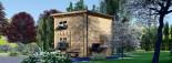 Chalet en bois à toit plat AVIGNON (44 mm), 19.9 m² + 16 m² étage  visualization 5