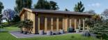 Studio de jardin habitable MARINA (44+44 mm, RT2012), 8x6 m, 48 m² visualization 3