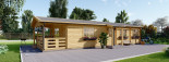 Chalet en bois habitable TOSCANA (44+44 mm, RT2012), 53 m² + 29 m² terrasse visualization 4