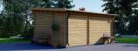 Abri de jardin HELEN (44 mm), 6x4 m, 24 m² + 12.5 m² terrasse visualization 5