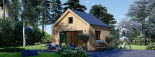 Chalet en bois SARA (44 mm + bardage), 20 m² visualization 3
