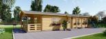 Chalet en bois TOSCANA (44+44 mm), 53 m² + 29 m² terrasse visualization 4