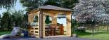 Tonnelle en bois (28 mm), 4x4 m, 16 m² visualization 1