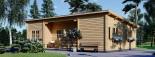 Chalet en bois à toit plat UZES (58 mm), 70 m² visualization 4