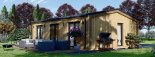 Chalet en bois ANGELA (44 mm + bardage), 50 m²  visualization 8