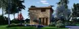 Studio de jardin LISA (44 mm + bardage), 21.84 m² visualization 2