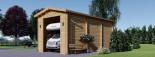 Garage en bois camping car (44 mm), 4x8 m, 32 m² visualization 4