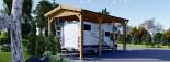 Carport en bois camping car,  3.5x7 m, 24.5 m² visualization 4