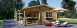 Chalet en bois AMELIA (66 mm), 32 m² + 20 m² terrasse visualization 8