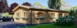 Chalet en bois BERTA (66 mm), 72 m² avec terrasse + 20 m² garage visualization 7
