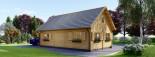 Chalet en bois 2 etages EMMA (66 mm), 80 m²  visualization 5